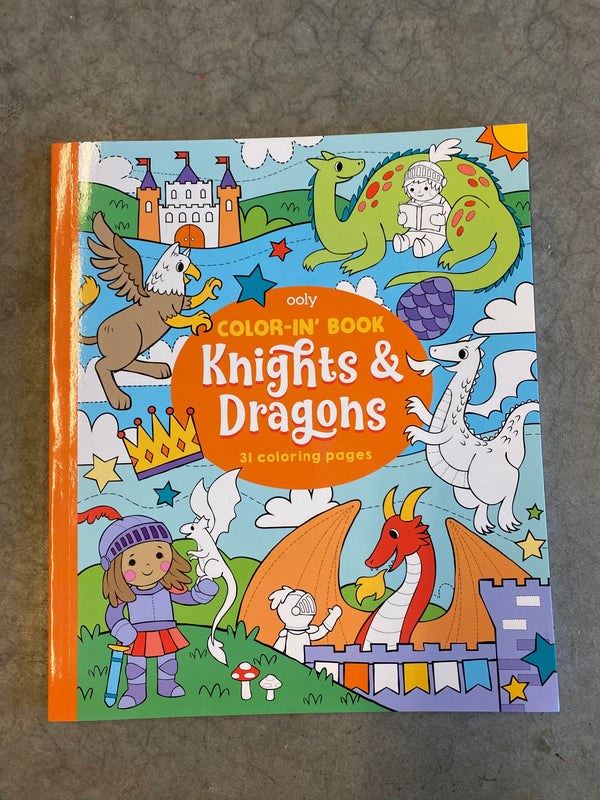 Knight and Dragons Coloring Book