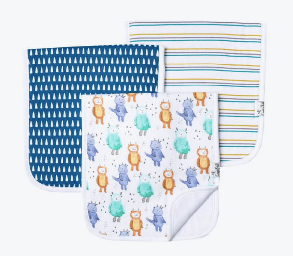 Premium Burp Cloths (3 Pack)- Max - Baby Sweet Pea's Boutique