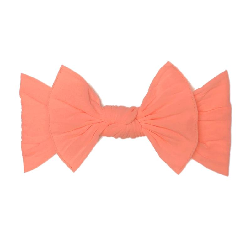 Neon Coral Classic Knot Headband - Baby Sweet Pea's Boutique