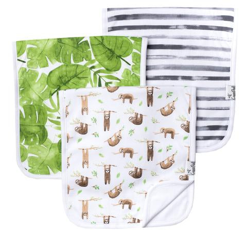 Premium Burp Cloths (3 pack)- Noah - Baby Sweet Pea's Boutique