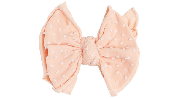 Topical Peach Dot Classic Bow Clip