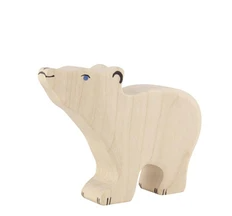 Holztiger Polar Bear Wooden Figure