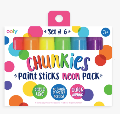 Chunkies Paint Sticks- Neon 6 Pack