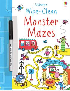 Wipe Clean- Monster Maze