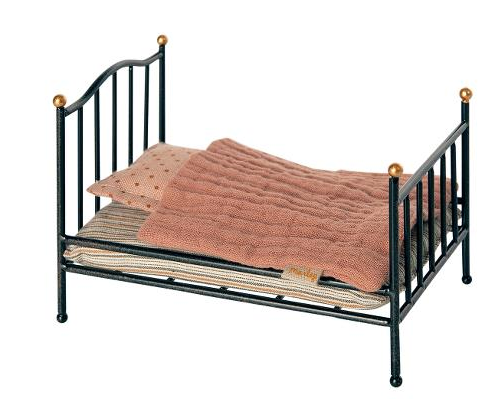 Vintage bed, Mouse- Anthracite
