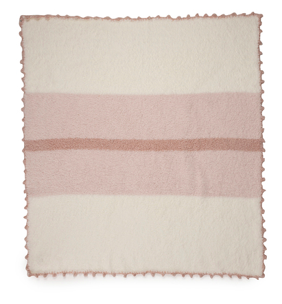 The CozyChic Striped Receiving Blanket- Pink