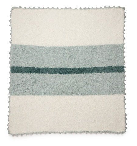 The CozyChic Striped Receiving Blanket- Mint