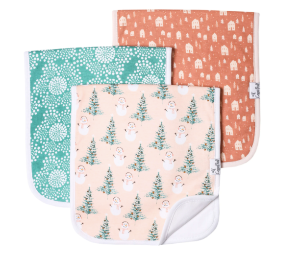 Premium Burp Cloths (3 Pack)- Jane