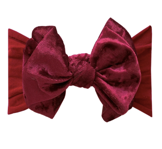 Velvet Fab Ruby Bow Headband