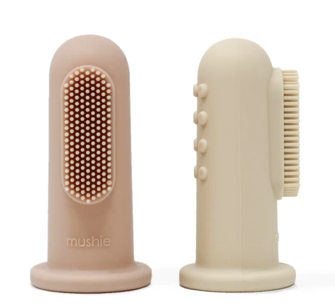 Finger Toothbrush- Shifting Sand and Blush