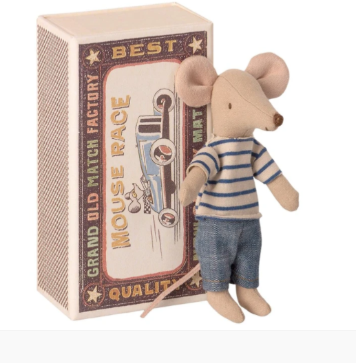 Big Brother Mouse in Box- Striped Top