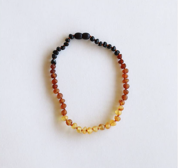 "Raw Ombre Amber 11"" Necklace"