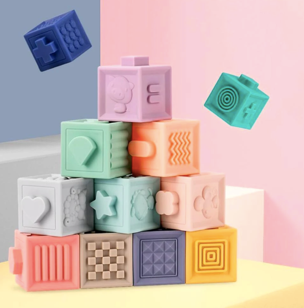 Silicone Building Blocks - Baby Sweet Pea's Boutique