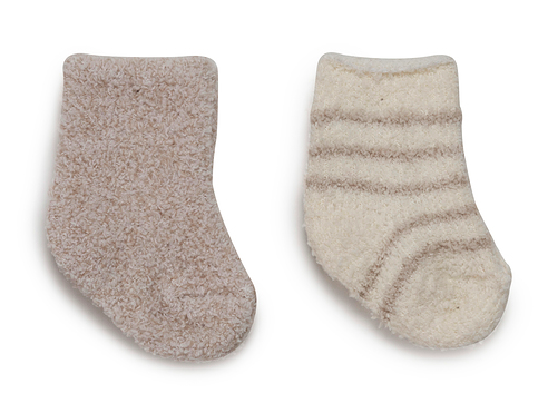 2 Pair Infant Sock Set- Stone