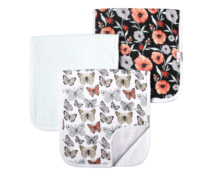 Premium Burp Cloths (3 Pack)- Dot