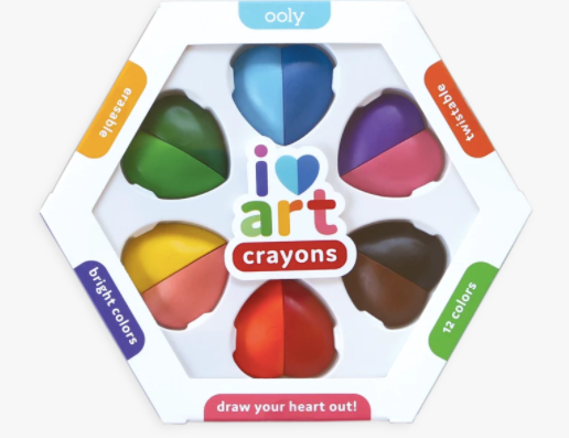 I Heart Erasable Crayons- Set of 6