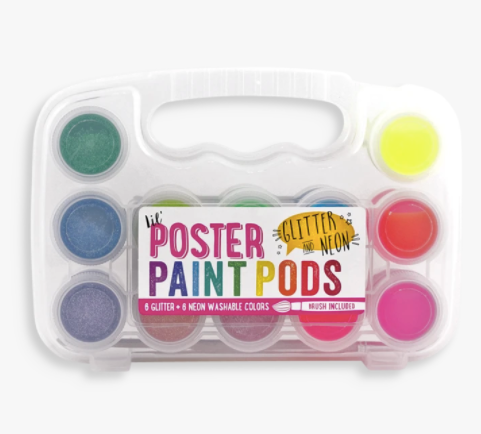 Lil' Poster Paint Pods- Glitter and Neon