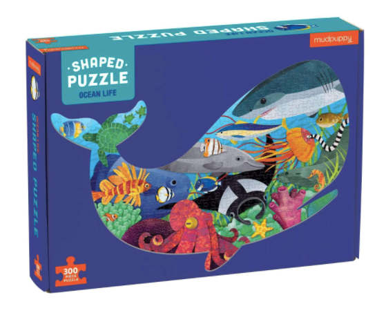 Ocean Life 300 Piece Shaped Puzzle