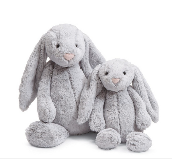 Bashful Grey Bunny - Baby Sweet Pea's Boutique