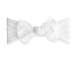 White Classic Knot Headband - Baby Sweet Pea's Boutique