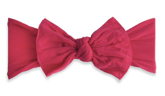 Cranberry Classic Knot Headband - Baby Sweet Pea's Boutique