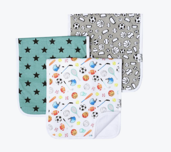 Premium Burp Cloths (3 Pack)- Varsity