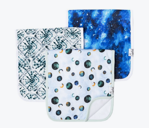 Premium Burp Cloths (3 Pack)- Galaxy - Baby Sweet Pea's Boutique