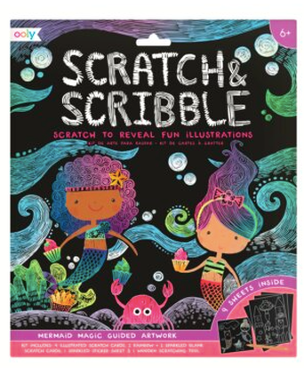 Scratch and Scribble Art Kit- Mermaid Magic - Baby Sweet Pea's Boutique