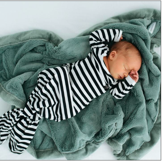 Eucalyptus Lush Receiving Blanket - Baby Sweet Pea's Boutique