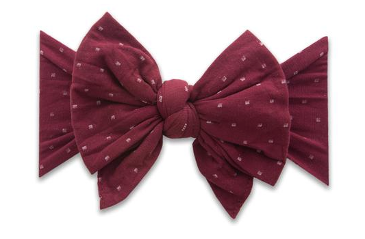 Burgundy Dot Dang Enormous Bow Headband - Baby Sweet Pea's Boutique