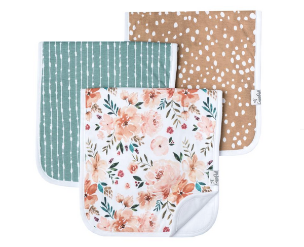 Premium Burp Cloths (3 pack)- Autumn - Baby Sweet Pea's Boutique