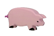 Holztiger Pig Wooden Figure - Baby Sweet Pea's Boutique