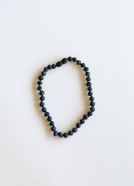 "Raw Black Amber 11"" Necklace"