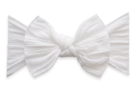 White Cable Knit Knot Headband - Baby Sweet Pea's Boutique