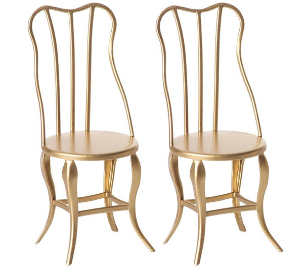 Gold Vintage Micro Chairs (2 pack) - Baby Sweet Pea's Boutique