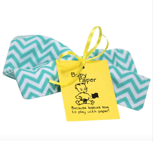 Turquoise Zig Zag Baby Paper - Baby Sweet Pea's Boutique