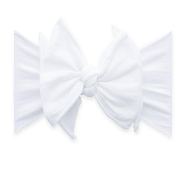 White FAB-BOW-LOUS Headband - Baby Sweet Pea's Boutique