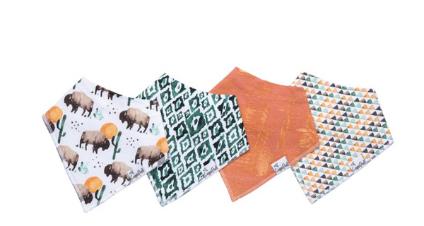 Baby Bandana Bibs- Bison - Baby Sweet Pea's Boutique