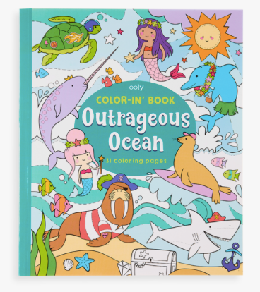 Outrageous Ocean Coloring Book - Baby Sweet Pea's Boutique