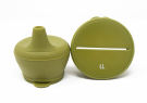 Silicone Snack & Sippy- Army Green - Baby Sweet Pea's Boutique