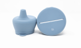 Silicone Snack & Sippy- Slate - Baby Sweet Pea's Boutique