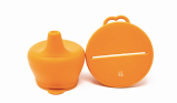 Silicone Snack & Sippy- Burnt Orange - Baby Sweet Pea's Boutique