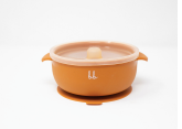 Silicone Bowl- Burnt Orange - Baby Sweet Pea's Boutique