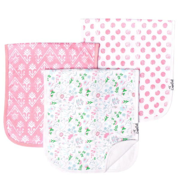 Premium Burp Cloths (3 Pack)- Claire - Baby Sweet Pea's Boutique