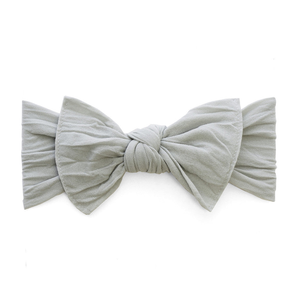 Grey Classic Knot Headband - Baby Sweet Pea's Boutique