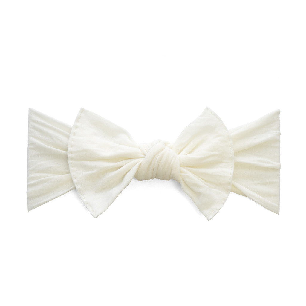 Ivory Classic Knot Headband - Baby Sweet Pea's Boutique