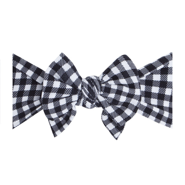 Black Gingham Dang Enormous Bow Headband