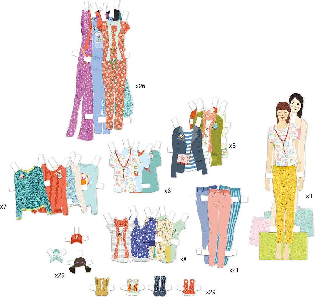 Paper Doll Paper Fashion- Le Grand Dressing Room