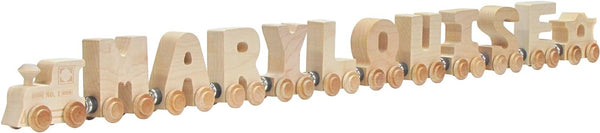 Name Train - Clear Finish - Baby Sweet Pea's Boutique