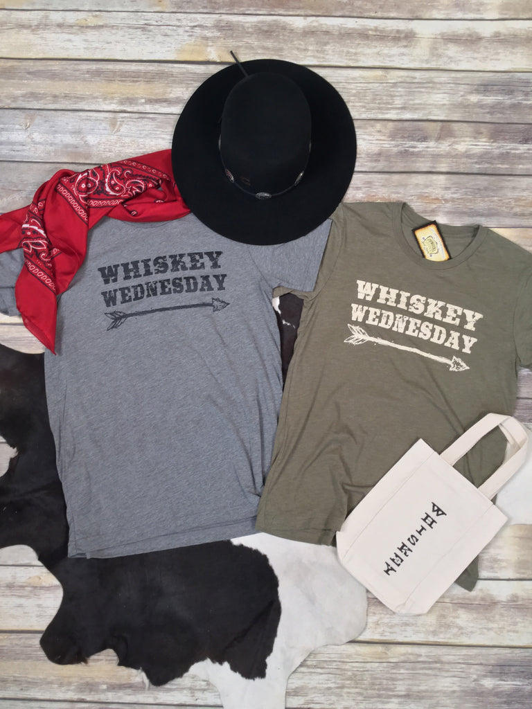 Whiskey Wednesday Grey Triblend Unisex Tee